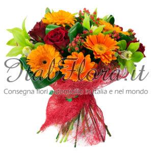 Bouquet rosso e arancio