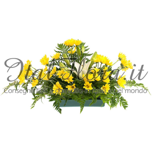 Cuscino di fiori gialli