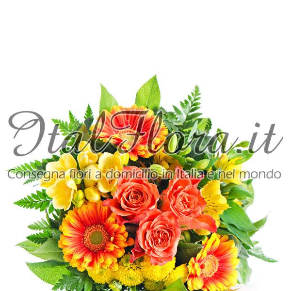 Bouquet solare giallo e arancio